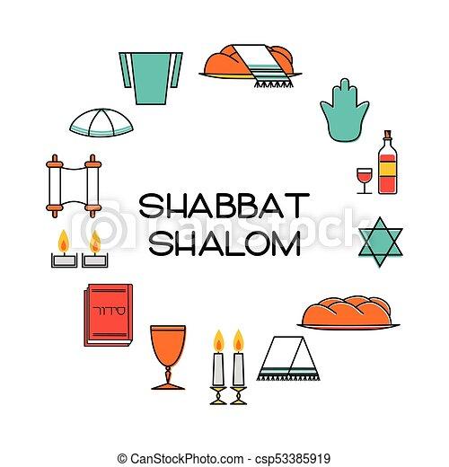 Shabbat Icons Vector - Download Free Vectors, Clipart Graphics & Vector Art