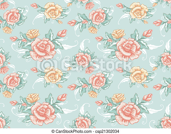 Shabby Chic Background Illustration Featuring A Seamless