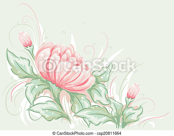 Shabby Chic Flower Design - csp20811664