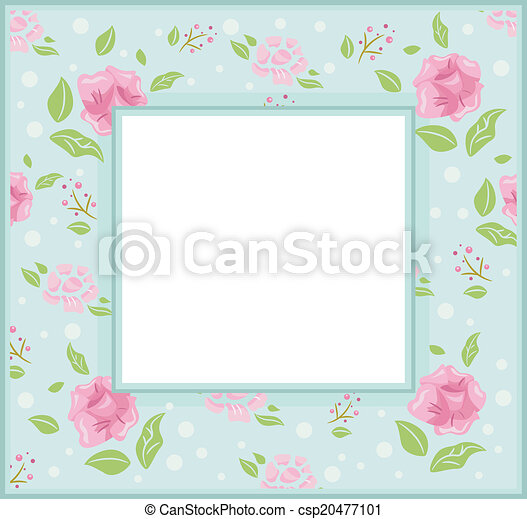 Shabby chic frame. Frame illustration with a shabby chic theme.