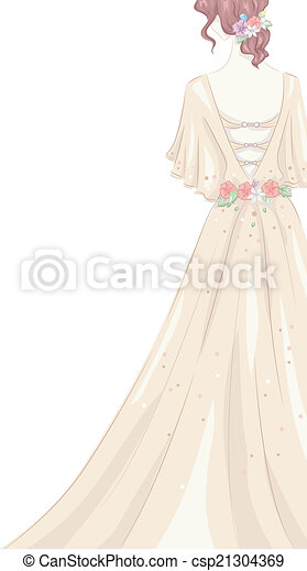 Shabby Chic Gown - csp21304369