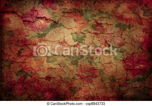 Shabby Chic Wallpaper Textured Vintage Floral Backdrop