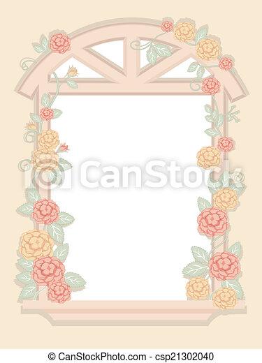 Shabby Chic Window Frame