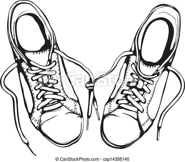 Running Shoes Vector Clip Art Eps Images 6939 Running Shoes