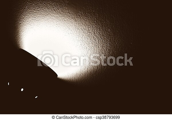 Abstract of shade of light from the electric lamp.