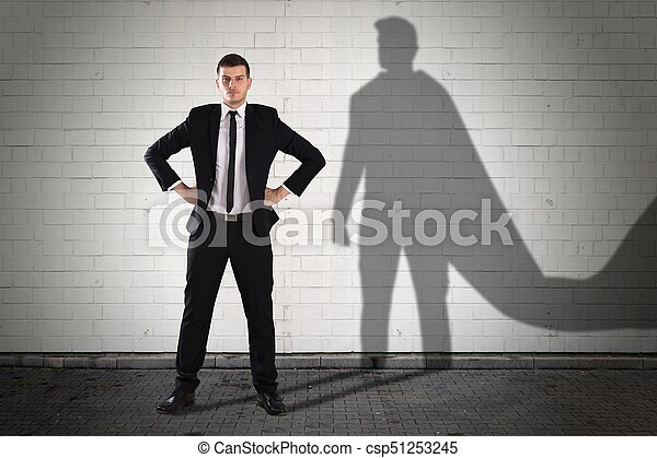 Shadow Formed Behind The Businessman