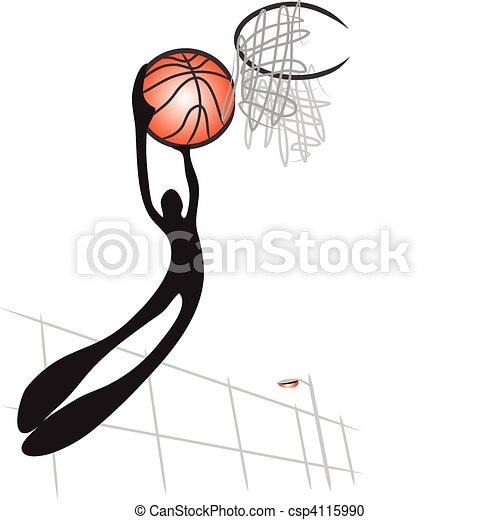 shadow man basketball - csp4115990
