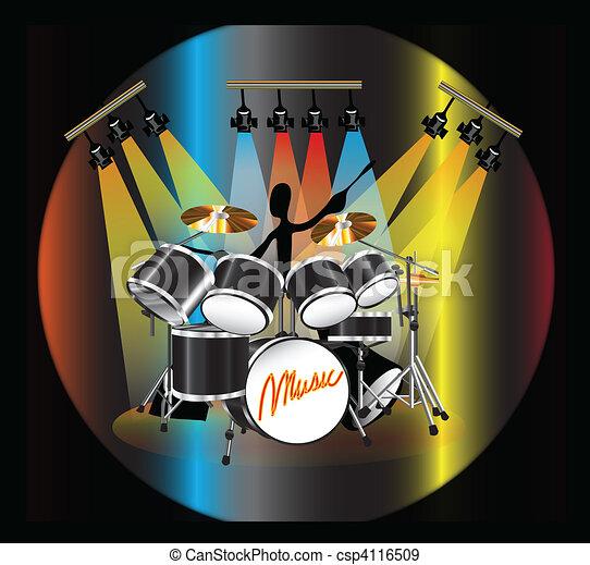 shadow man drum - csp4116509