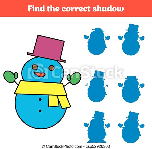 Shadow matching game for children. find the right shadow. activity ...