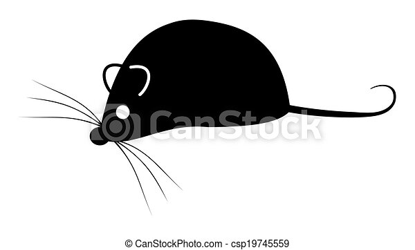 Line Drawing Mouse : Shadow of a mouse clipart vector search illustration drawings and