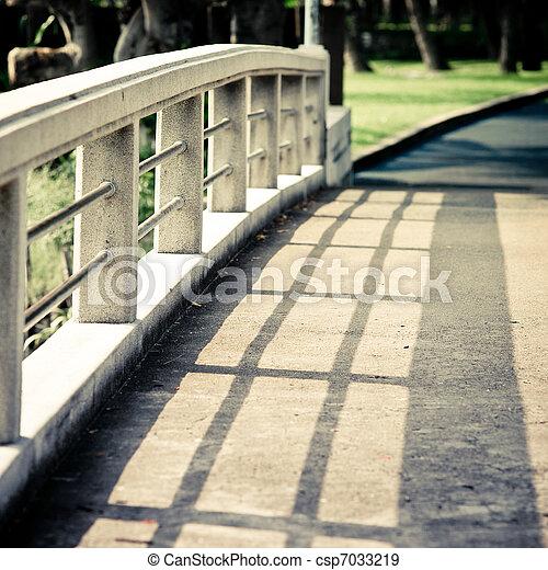 Shadow on the bridge - csp7033219