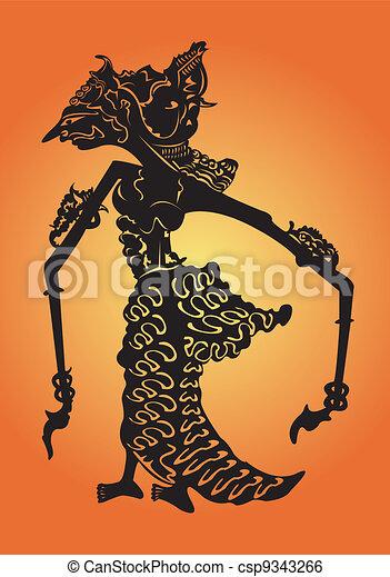 Shadow puppet. - csp9343266