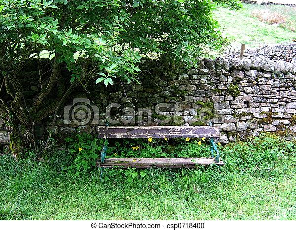 Shady Bench A Shady Overgrown Bench On A Hot Sunny