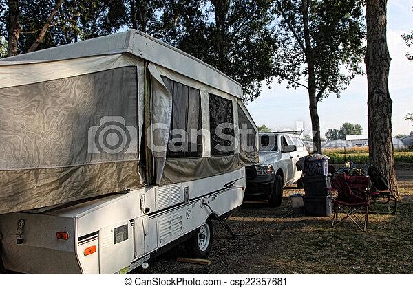 Shady Campsite - csp22357681