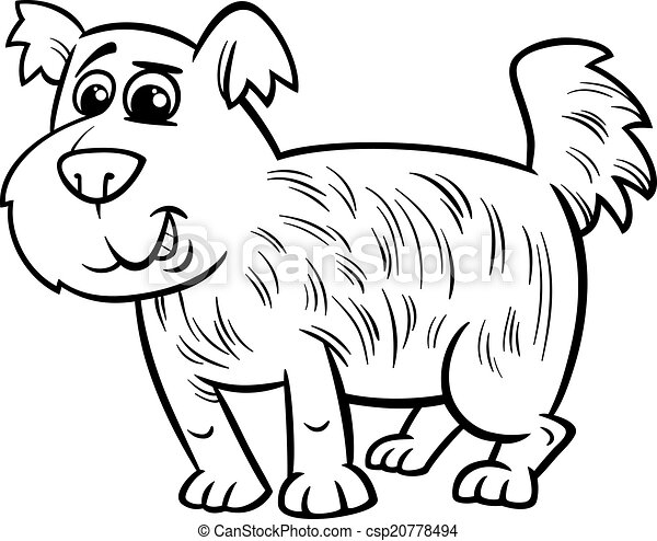 Shaggy Dog Cartoon Coloring Page Black And White Cartoon