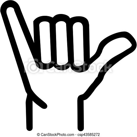 shaka hand icon vectors illustration search clipart drawings and rh canstockphoto com hand icon vector hand icon vector ai