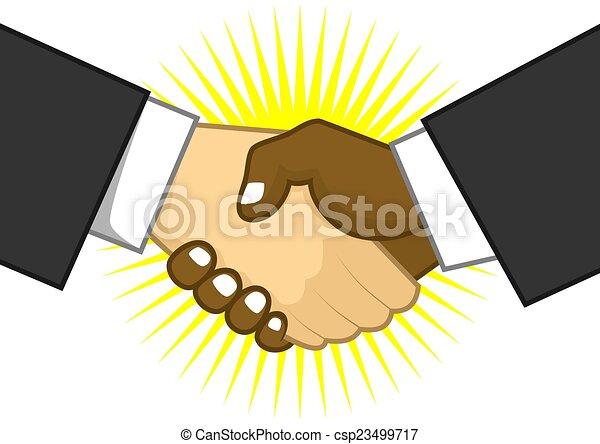 shake hand - csp23499717
