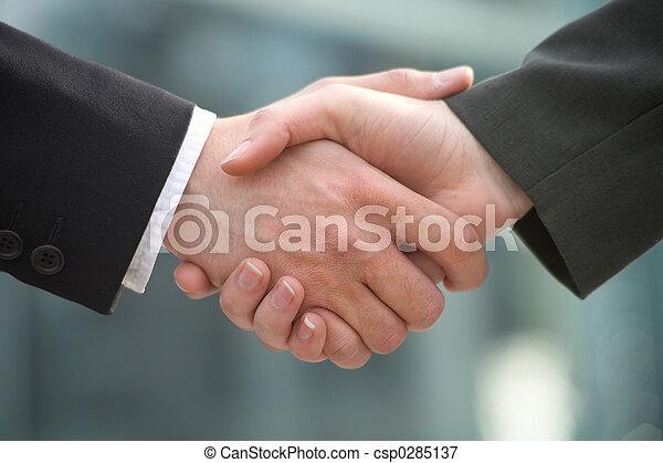 shake-hands - csp0285137