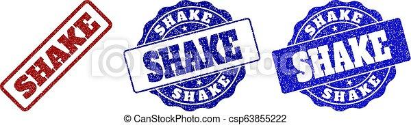 SHAKE Scratched Stamp Seals - csp63855222