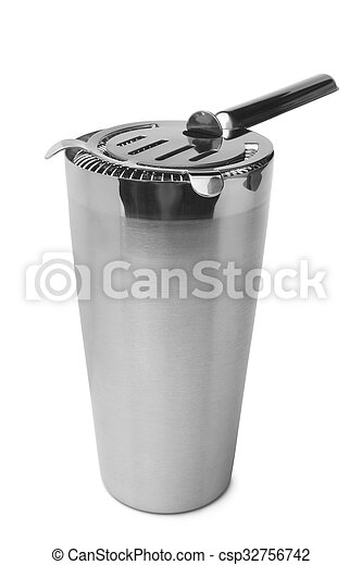 Shaker with cocktail strainer - csp32756742
