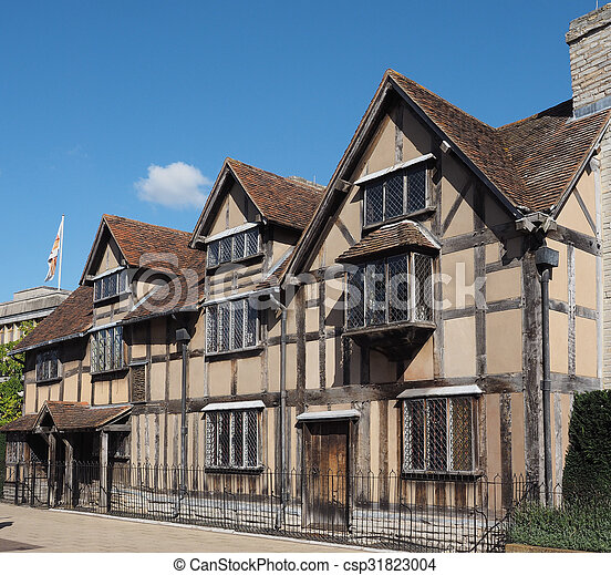 Shakespeare birthplace in Stratford upon Avon - csp31823004