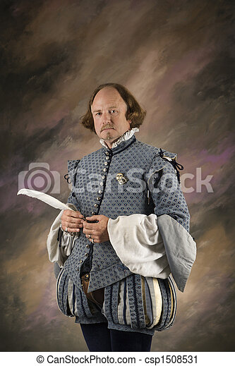 Shakespeare with feather pen. - csp1508531