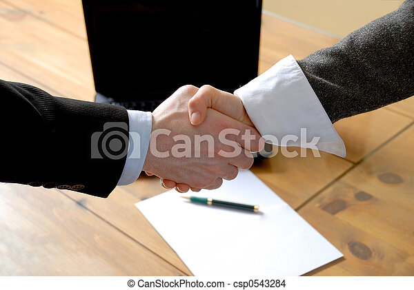 Shaking hands - csp0543284