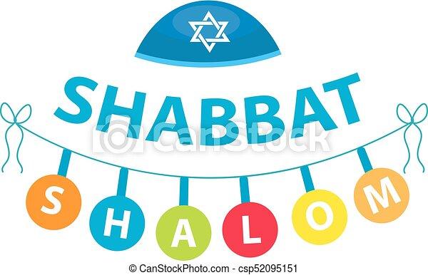 shalom shabbat flat style religious jewish tradition clipart rh canstockphoto com shabbos clip art free shabbat clipart free