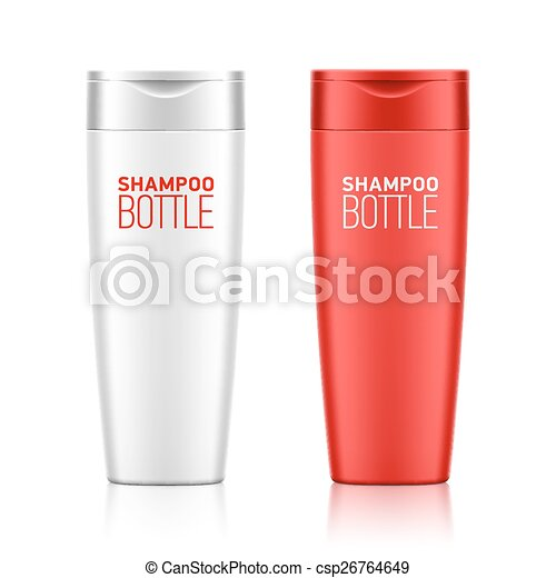 Shampoo bottle template - csp26764649