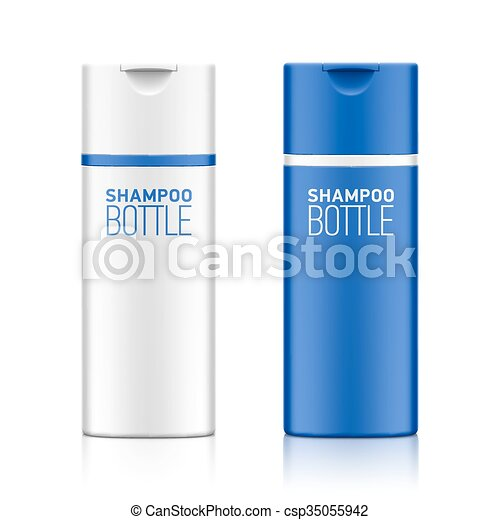 Shampoo bottle template - csp35055942