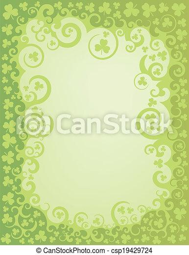 Shamrock green swirl border a green swirly border intertwined with shamrock green swirl border csp19429724 altavistaventures Images