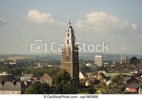 shandon, miasto, punkt orientacyjny, sławny, korek - csp1863688