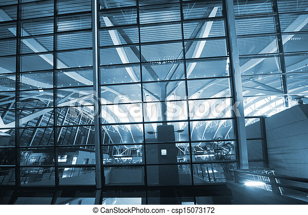 Shanghai Airport Night - csp15073172