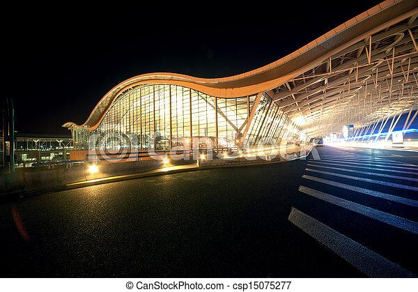 Shanghai Airport Night - csp15075277