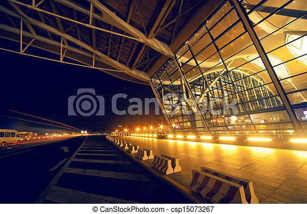 Shanghai Airport Night - csp15073267