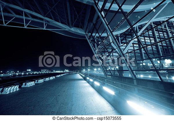 Shanghai Airport Night - csp15073555