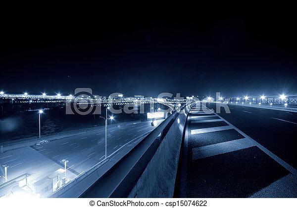 Shanghai Airport Night - csp15074622
