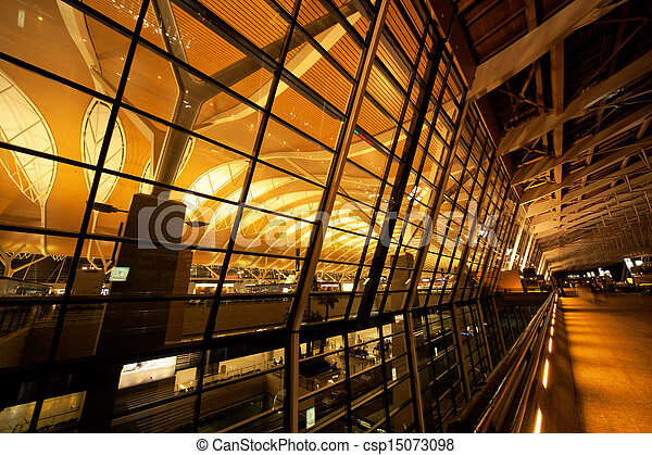 Shanghai Airport Night - csp15073098