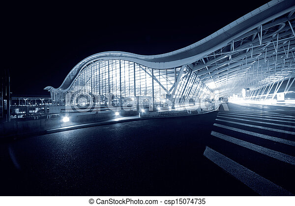 Shanghai Airport Night - csp15074735