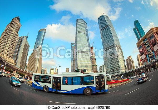La escena de la calle en Shanghai - csp14920760