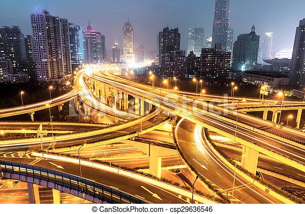 Shanghai interchange - csp29636546
