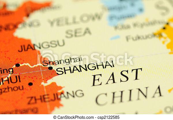 Shanghai on map - csp2122585