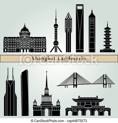 Shanghai V2 Landmarks - csp44875573
