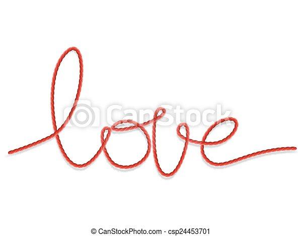 Shape word - love. EPS 10 - csp24453701