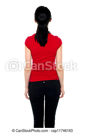 Shapely woman with her back facing camera - csp11746163