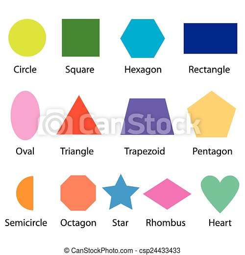 shapes chart for kids - csp24433433