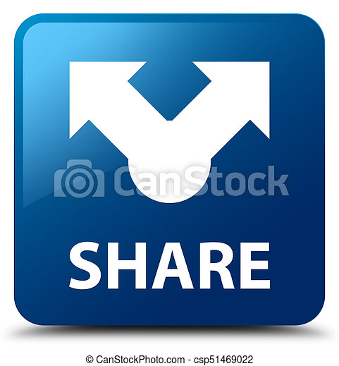 Share blue square button - csp51469022