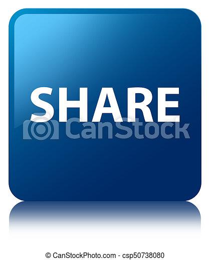 Share blue square button - csp50738080