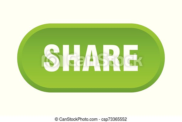 share button. share rounded green sign. share - csp73365552