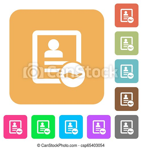 Share contact rounded square flat icons - csp65403054